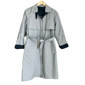 London Fog Khaki Belted Pockets Trench Coat